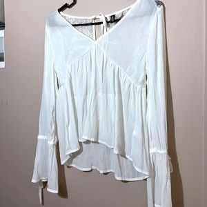 Sheer flowy blouse new
